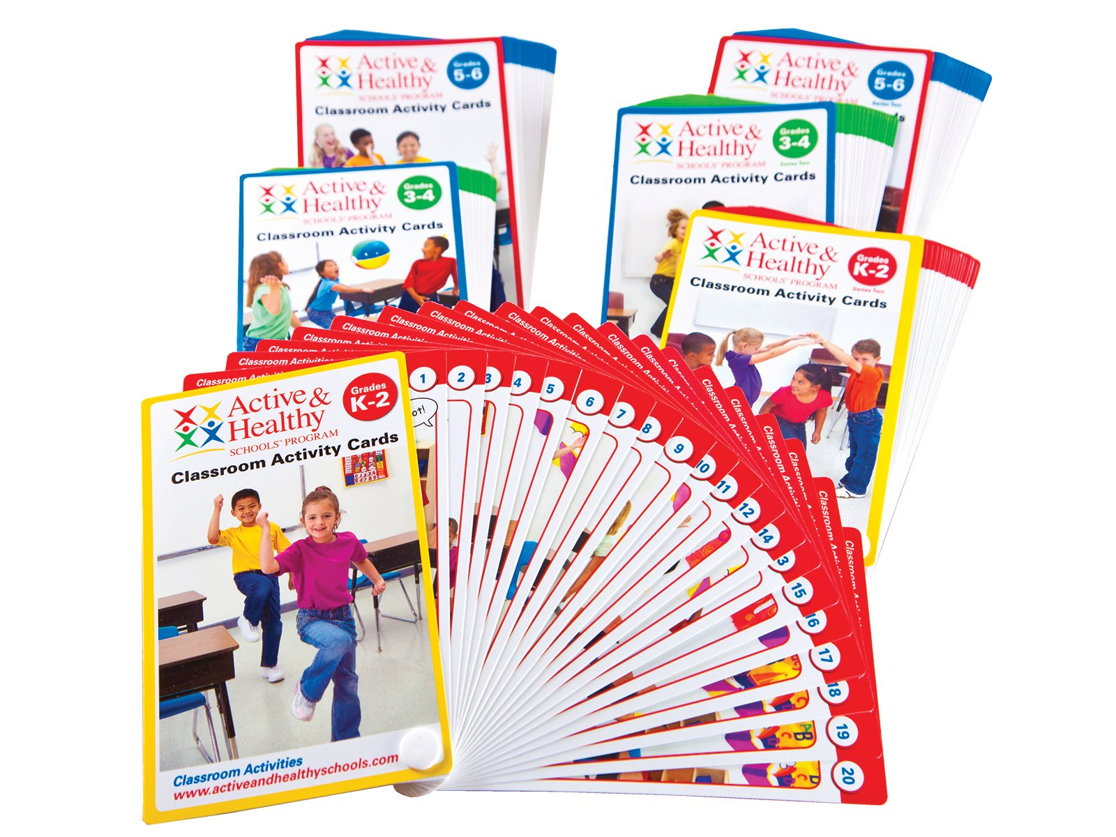 Classroom activity cards sets for different ages