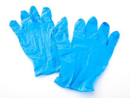 Mueller Nitrile Gloves & Dispenser