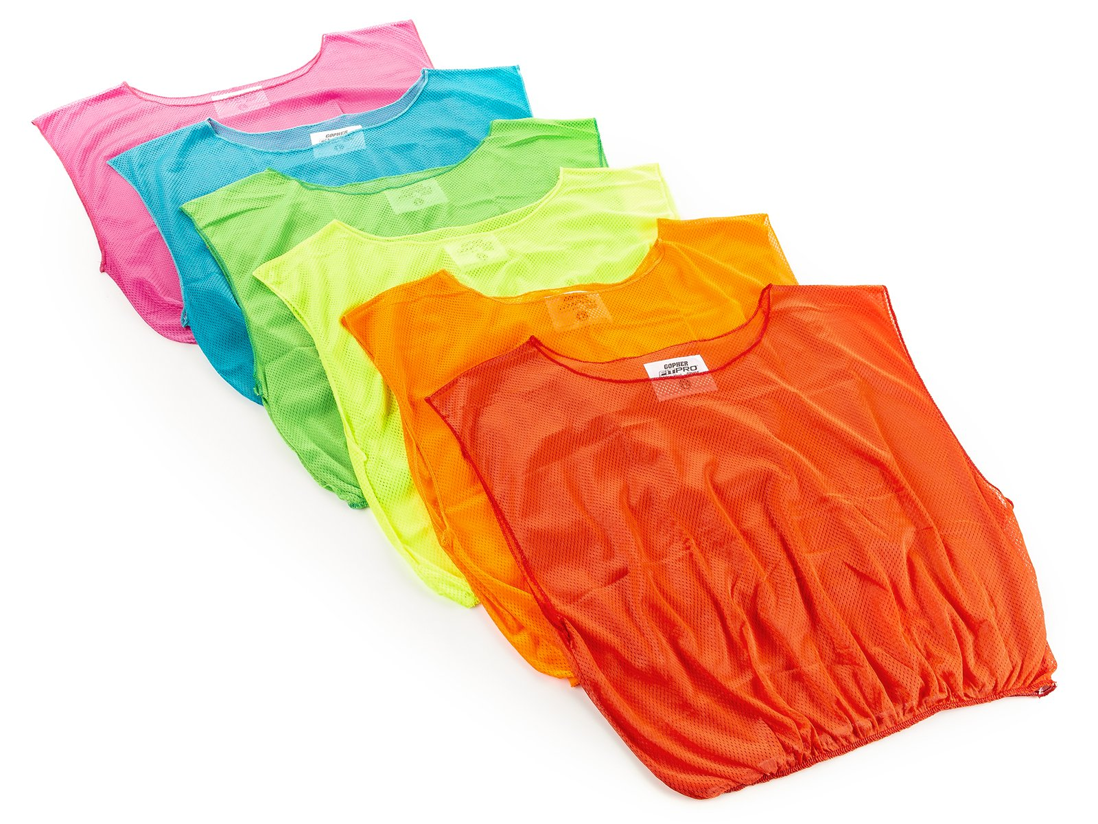 Introductory mesh vests in fun Screamin' colors!