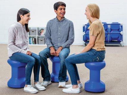 Rounded bottom allows students to tip, twist, and tilt to better classroom success