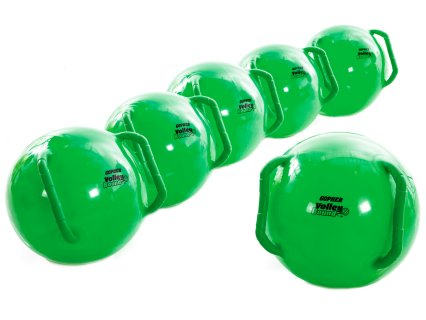Set includes 6 screamin' green rebounders