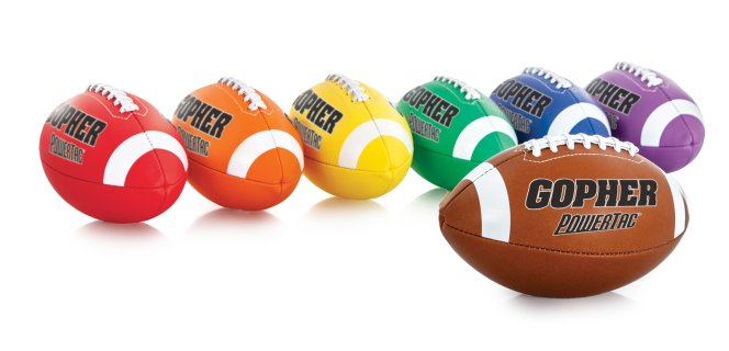 Rainbow PowerTac Footballs
