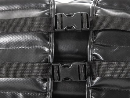 Smaller buckles and more adjustability throughout chest