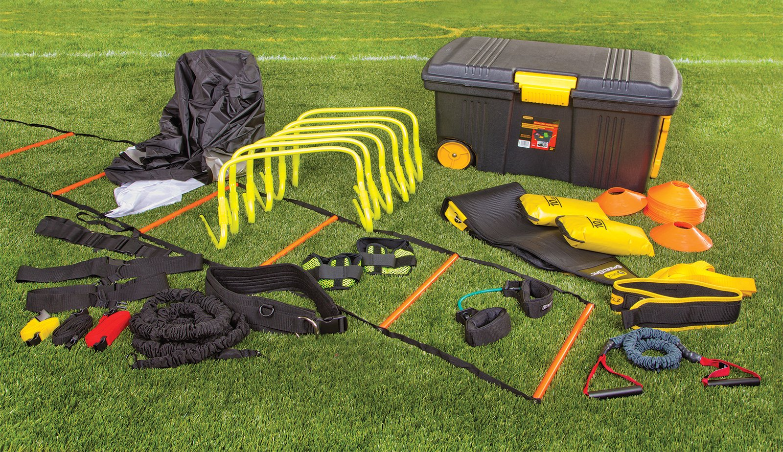 Equipment for SAQ sports training with storage case