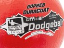 Approved for league play, featuring National Dodgeball League logo