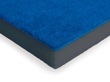 Thick padding in carpeted gymnastics mat