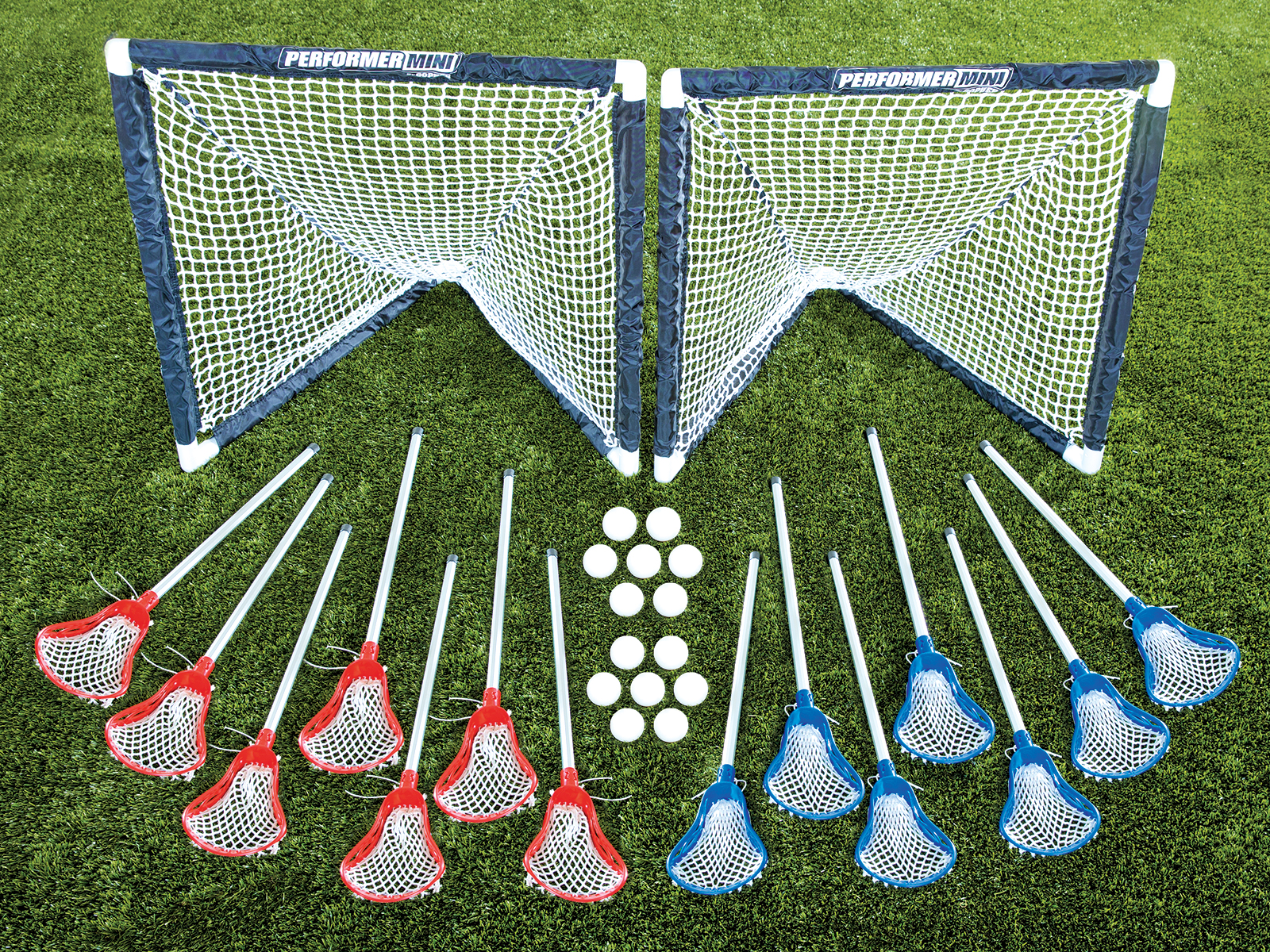 14-player set of lacrosse sticks