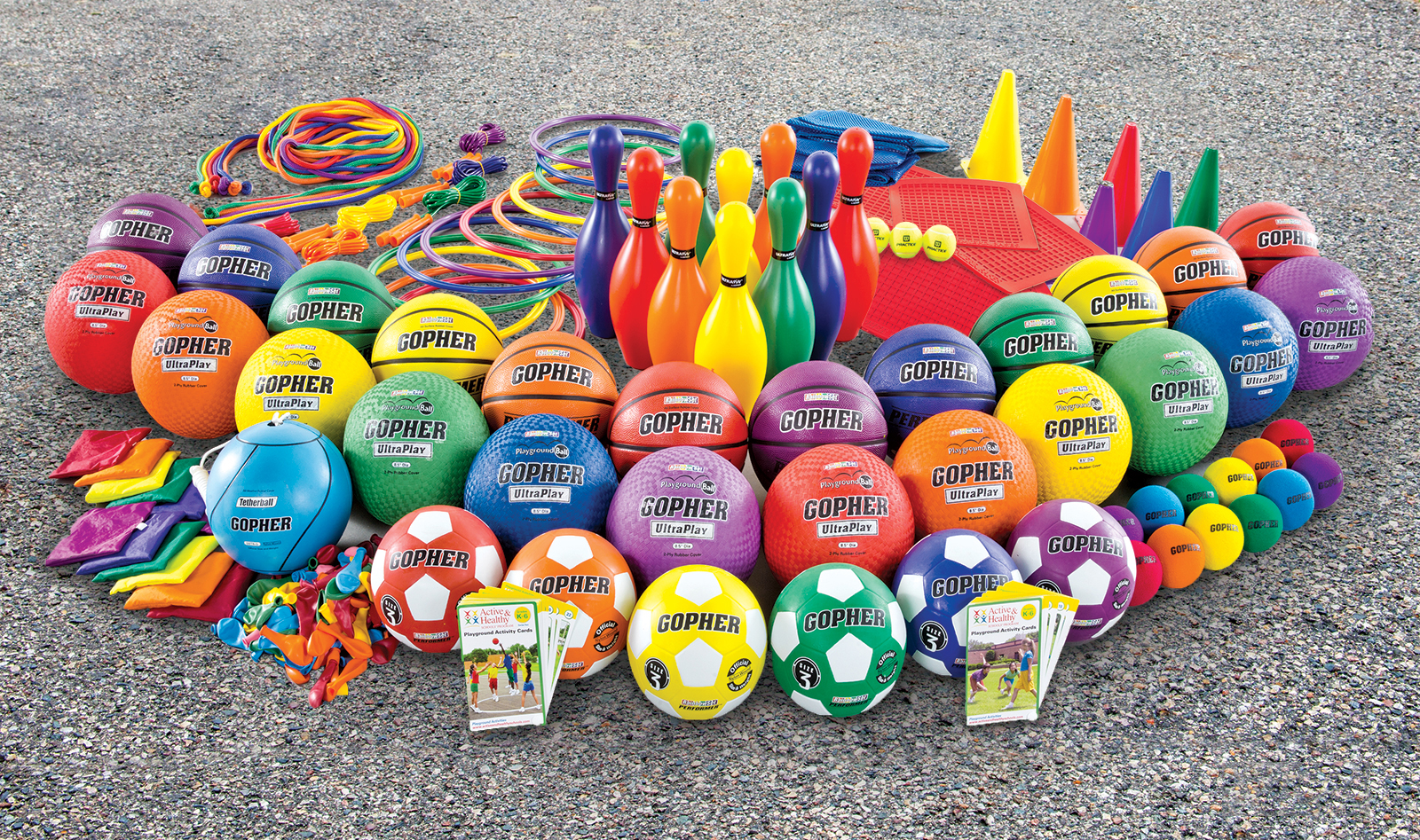 Large PE playground equipment set
