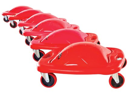 Ergo Scooter-Red, Set of 6