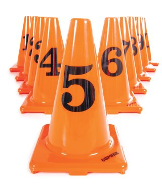 Numbered Vinyl Cones