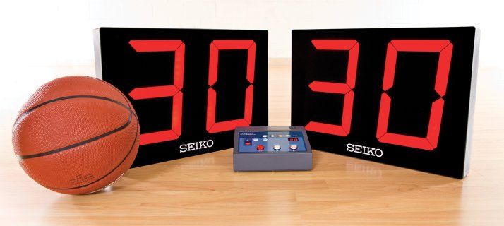 "Seiko® 10"" LED Wired Shot Clocks"