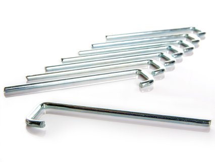 Ground anchor stakes keep ladder in place during outdoor use