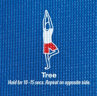 Tree yoga pose instructions