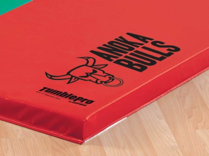 "TumblePro 2"" Polyethylene-Foam Reduced Injury Factor Custom Logo Gymnastics Mats"