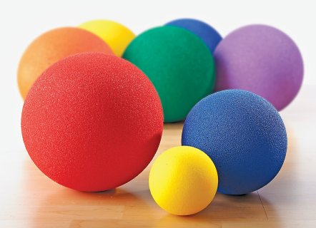 Rainbow Grip-A-Ball Uncoated-Foam Balls