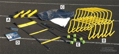 Equipment set for speed, agility and quickness training