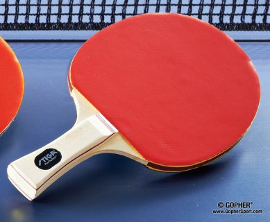 Close up of ping pong racket