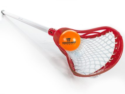 Gopher Whip Lacrosse Stick - Red with ball