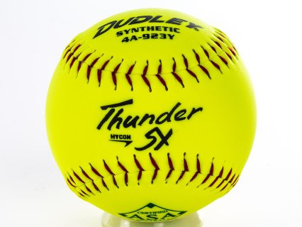 Dudley 4A-923Y Thunder HyCon ASA Slow Pitch Softballs