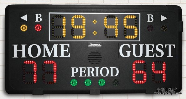"Basketball/Volleyball 6"" LED Display Scoreboard (Basketball / Volleyball)"