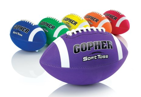 Rainbow SoftToss Foam Cover Footballs