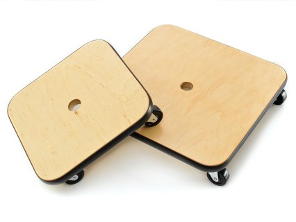 Pair of 12 inch wood scooter boards