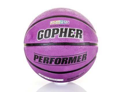 Gopher Performer - Rubber Basketball, Size 5, Purple