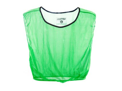 Single green polyester pinnie vest