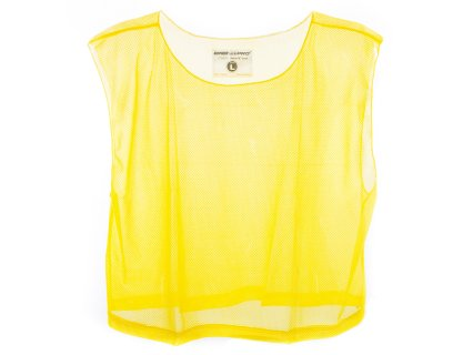 Single yellow polyester mesh vest