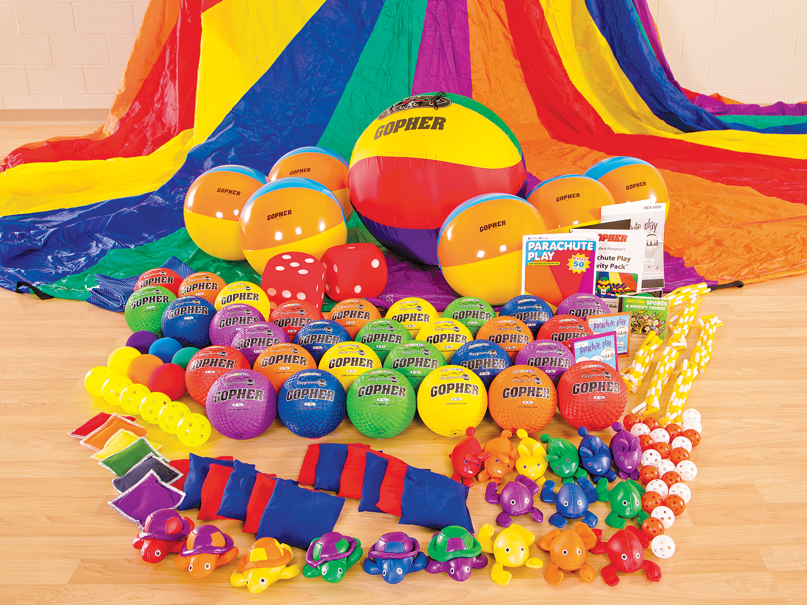 Equipment for elementary parachute activities