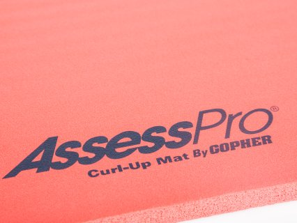 Logo on red mat