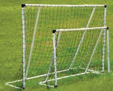 Set of white mangus soccer goals