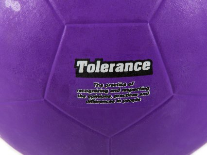 Definitions are printed on each ball