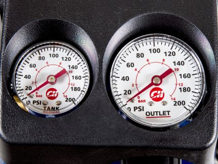 Gauges are easy to read