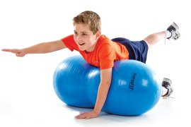 Student used stability ball to practice balance
