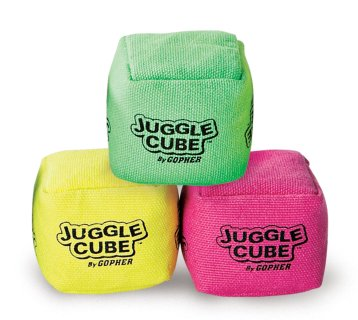 3 cube set of juggling beanbags