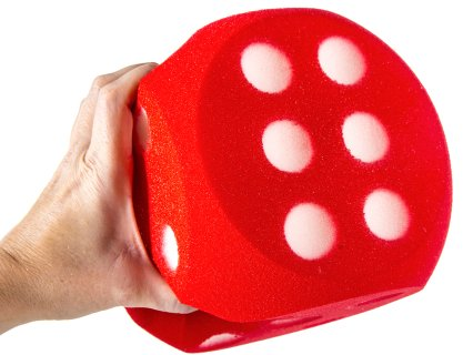 Soft dice are made of dense, pick-proof foam