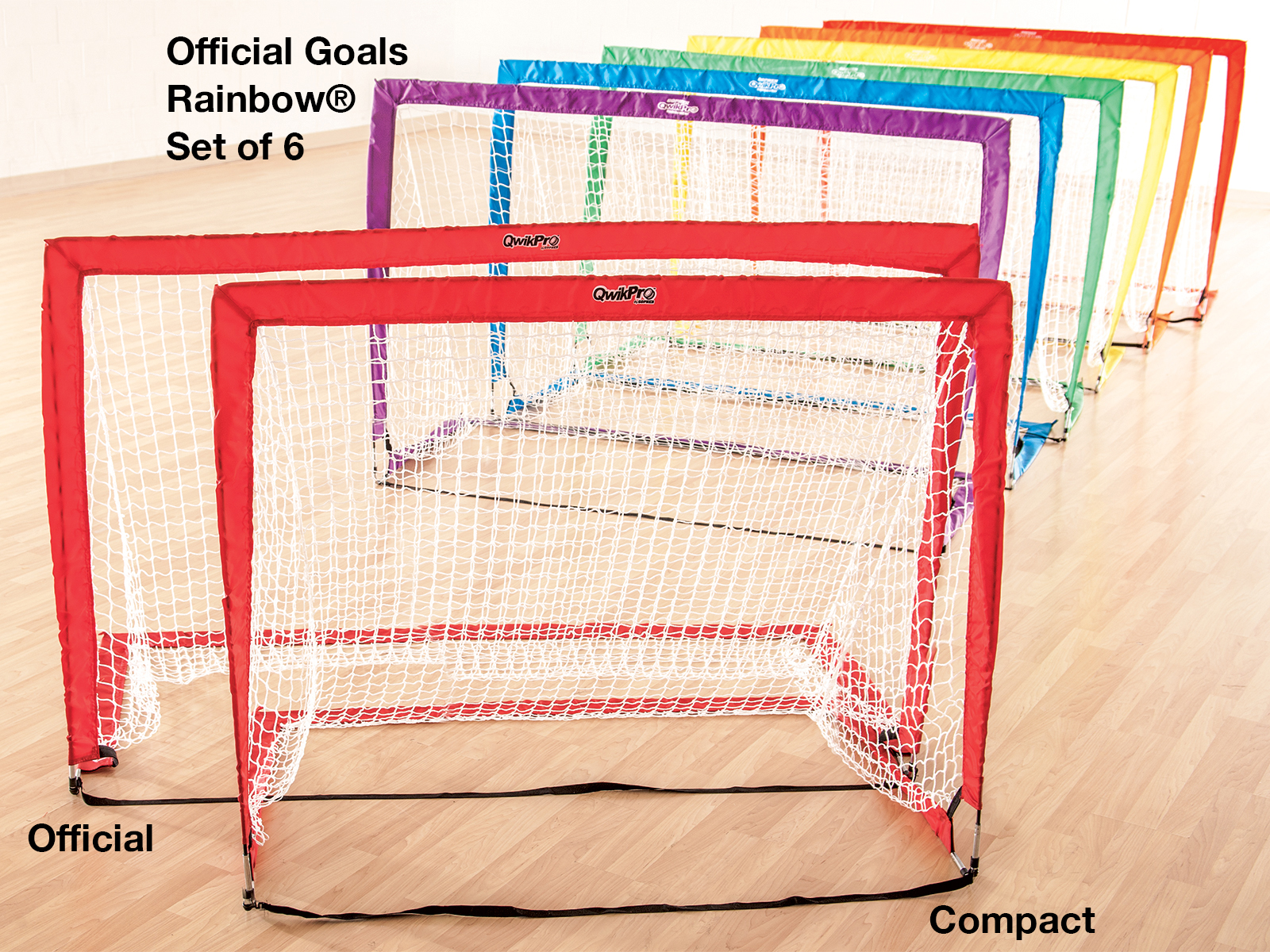 Pop up floor hockey goal set of 6
