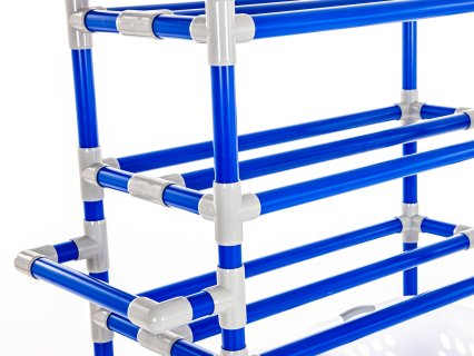 Close up of racks on storage cart