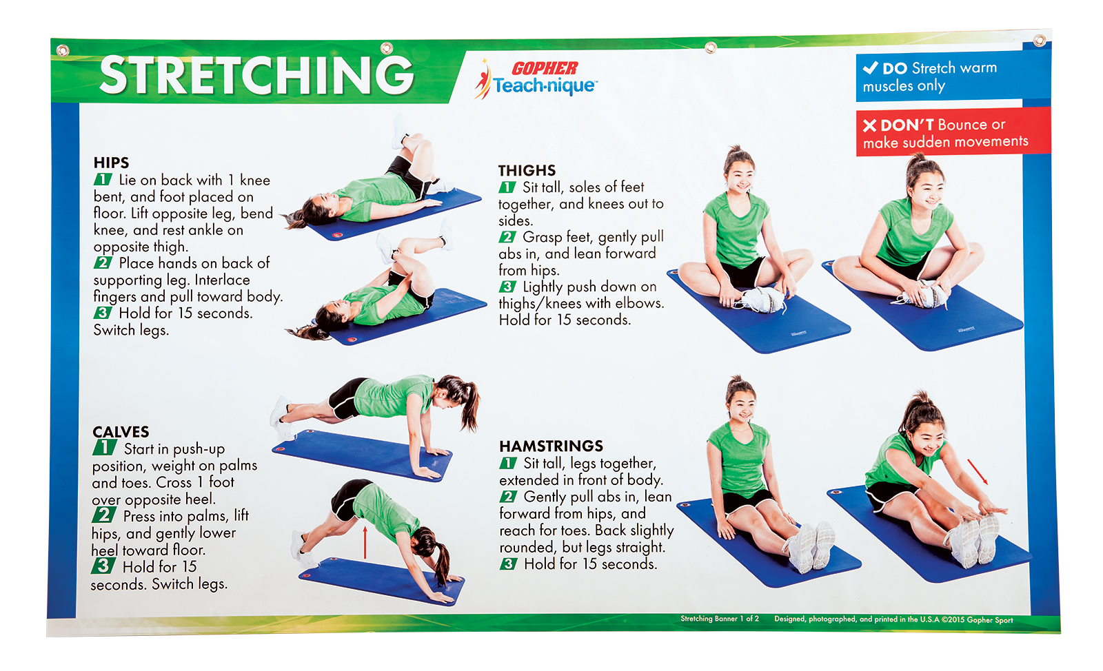 Stretching teaching poster