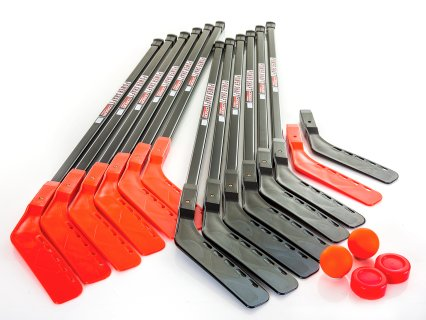 "Cosom 52""L Power Shaft Floor Hockey Set - 12 Player (College)"