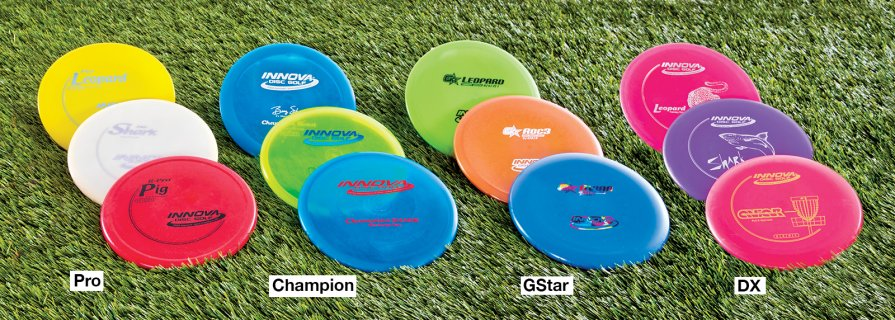 Various skill level frisbees