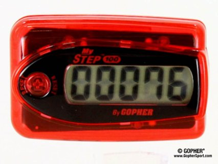 360° view of red pedometer