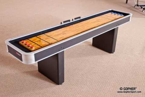 Atomic shuffleboard table