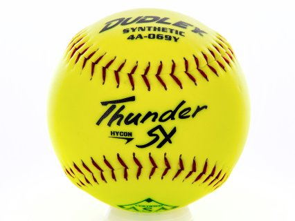 "Dudley Thinder HyCon 4A-067Y Slow Pitch Softball - Synthetic-Leather, 12"", Yellow"