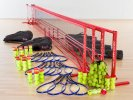Complete ultranet tennis set for PE classes