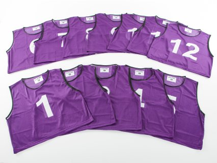 FitPro Numbered Vest - RelaxFit Pack - Set of 12, Purple