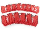 FitPro Champion Numbered Mesh Vest Pack - Large, Red, Set of 12