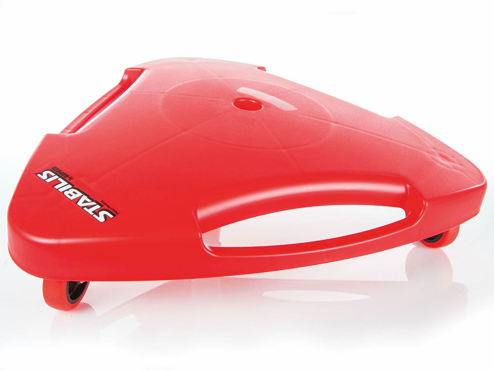 24 inch red anti-tip scooter board