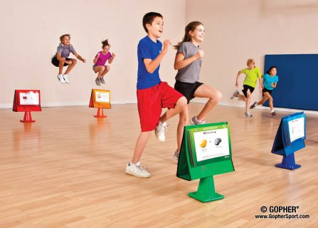 Kids playing portion pursuit game